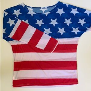 Tops - 🇺🇸🇺🇸STARS AND STRIPES LONG SLEEVED TEE🇺🇸🇺🇸